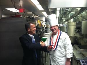 Rick Gannotta, President, with Chef Bruce Reinecke