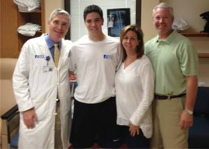 The Hausmann family with Dr. Hey